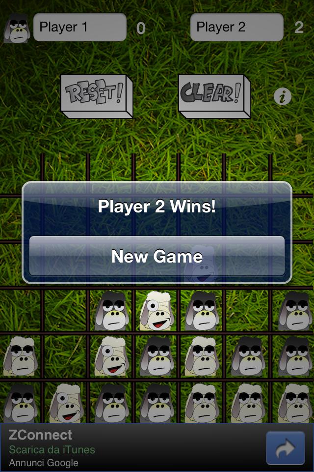 Screenshot 4 Sheeps in a row